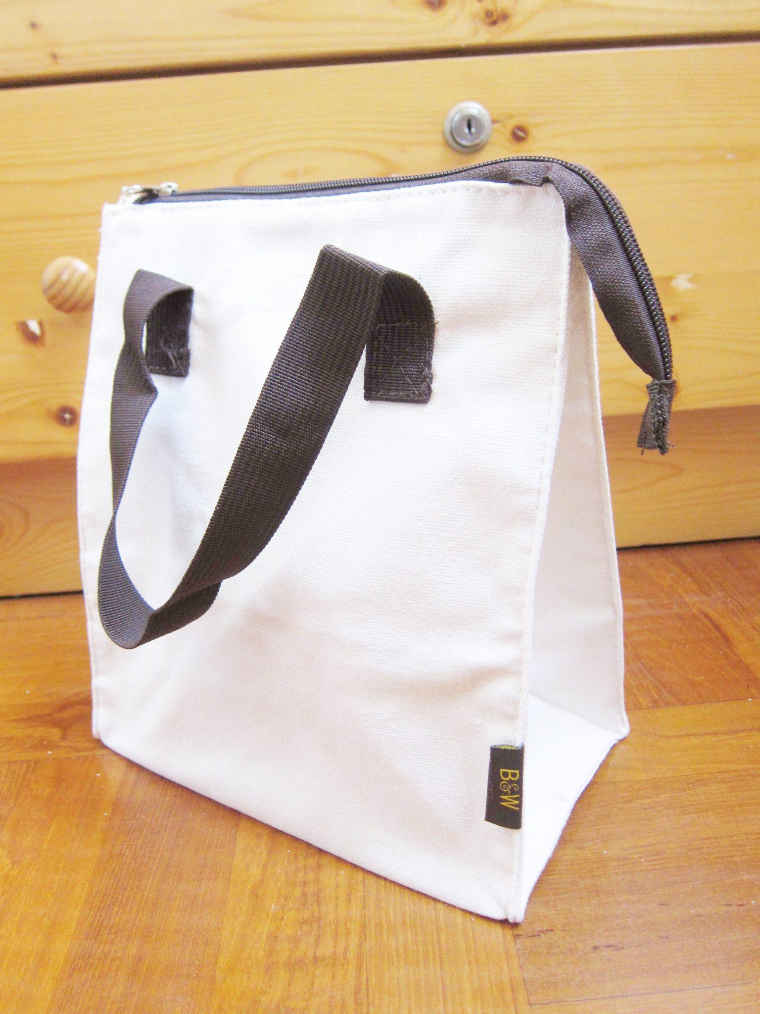 canvas bag tote bag zipper