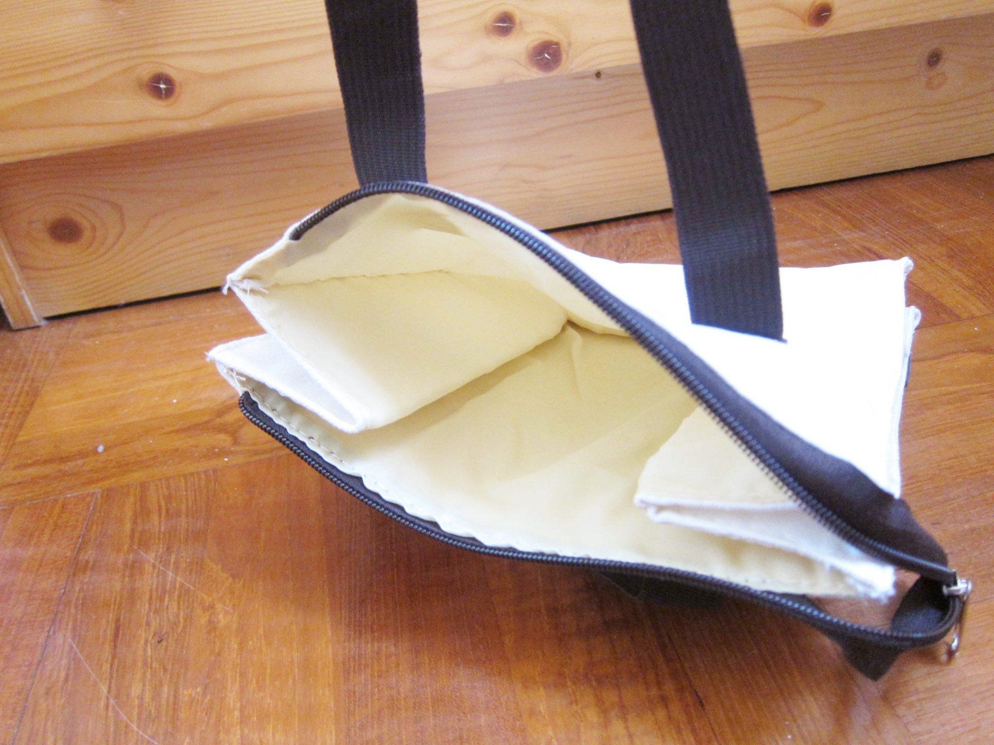 canvas bag tote bag zipper2