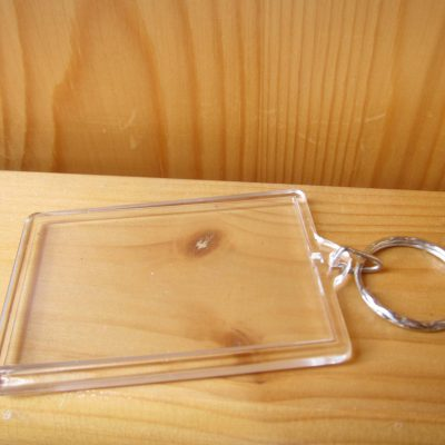 photo keyring rectangle