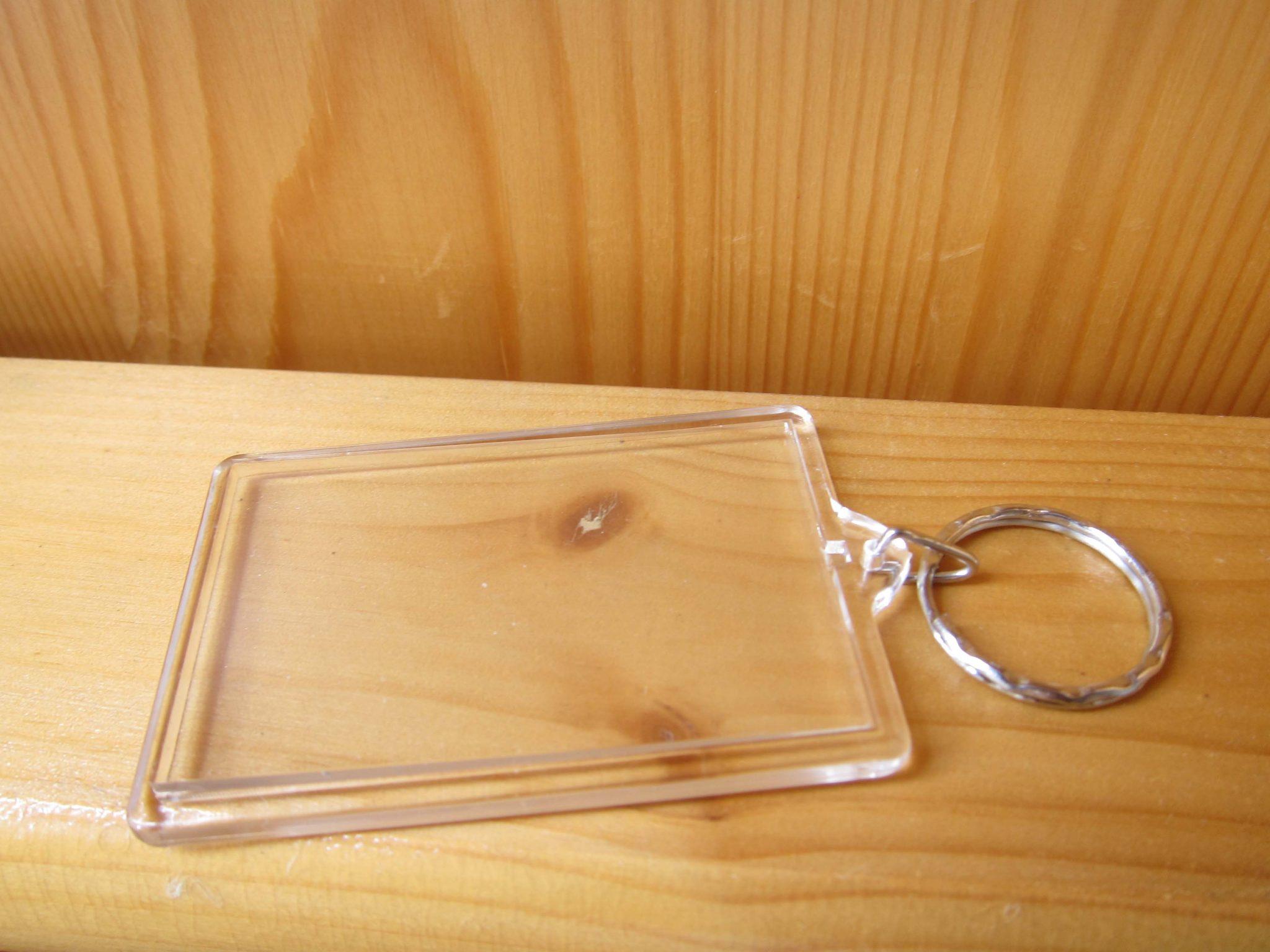photo keyring rectangle