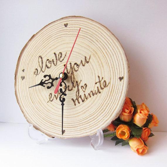 wood clock wedding gift