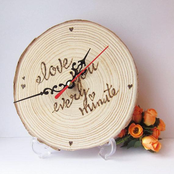 wood clock2 wedding gift
