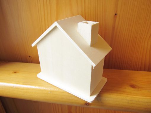 wood craft money box house1