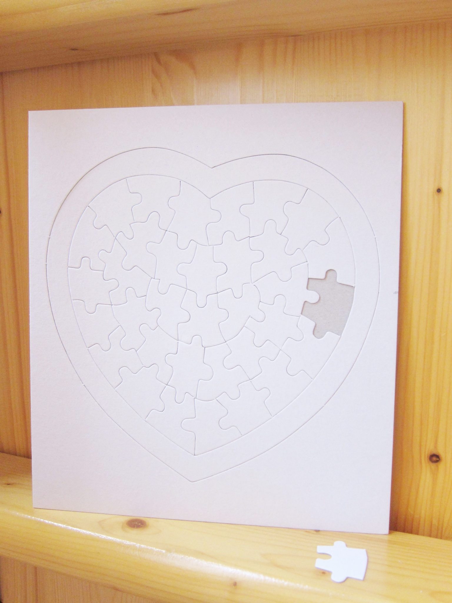 blank jigsaw big heart