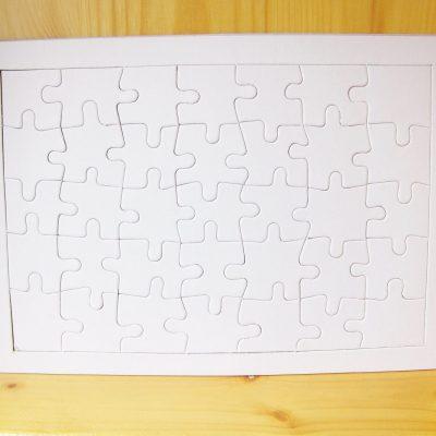 blank jigsaw rectangle