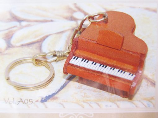 diy leather keyring piano