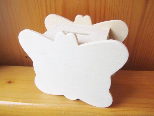 wood craft money box butterfly