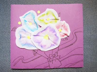 Mother's Day Card made by Kitchen Tissue