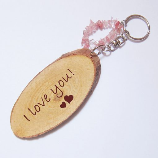 persoanlized wood keyring