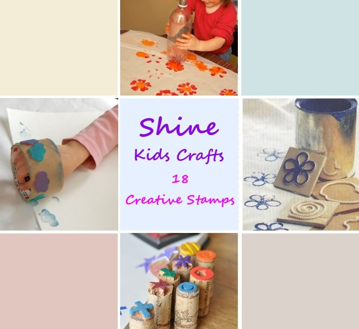 18 Creative Stamps for Kids Party / Kids Crafts