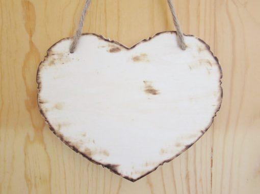 heart wooden sign