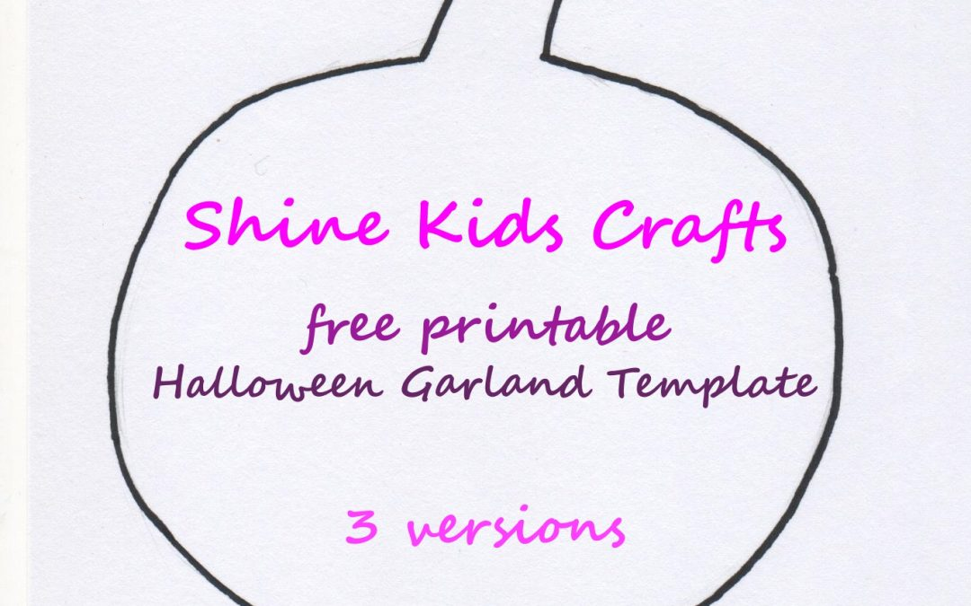 halloween free printable garland template