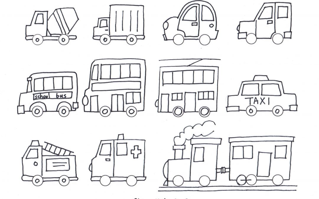 Free Printable Simple Draw Vehicles / Cars – Coloring for kids