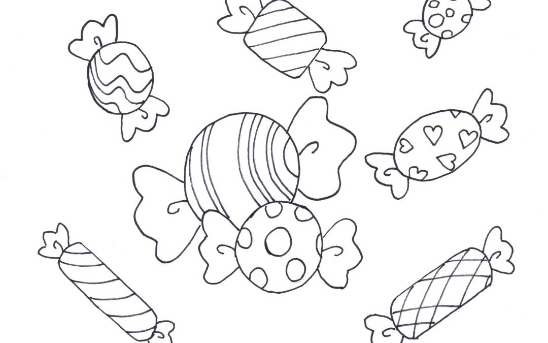 Free Printable Candies Coloring / Calendar – Party Food (Candies)